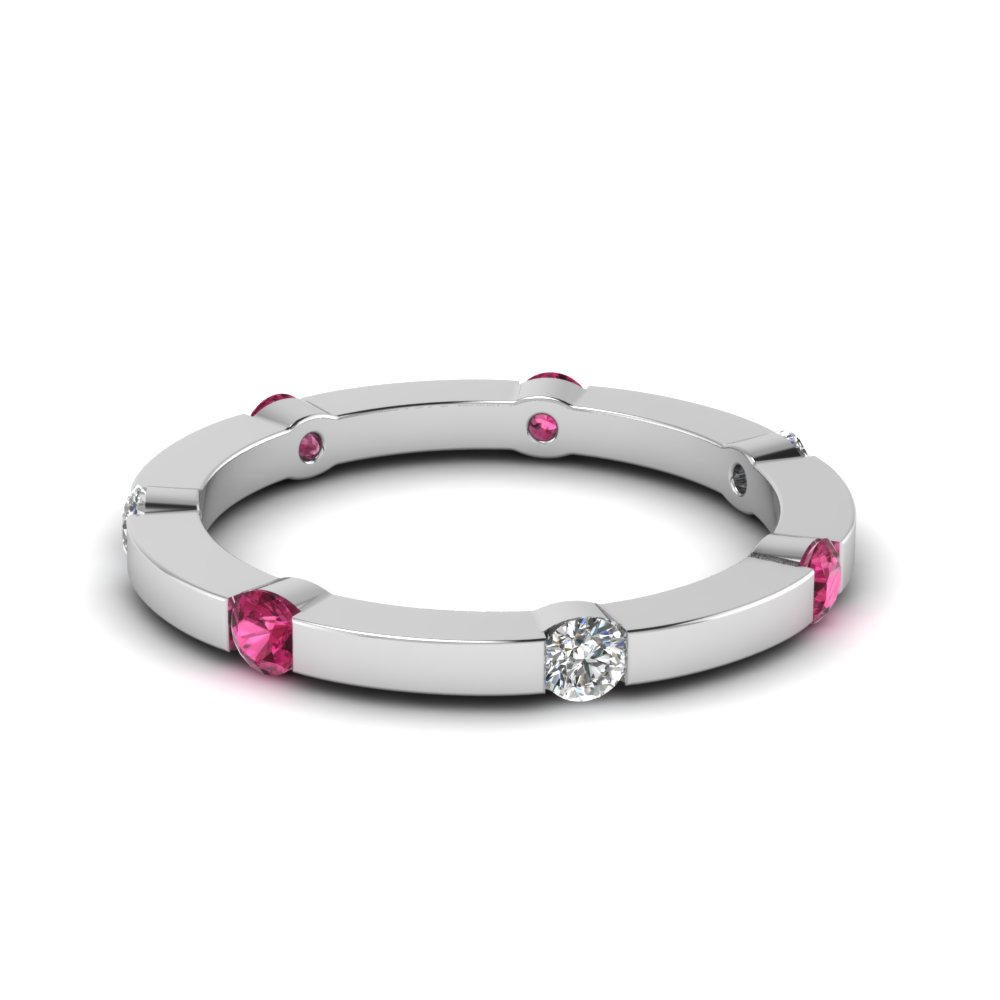 Classic Pink Sapphire Eternity Band