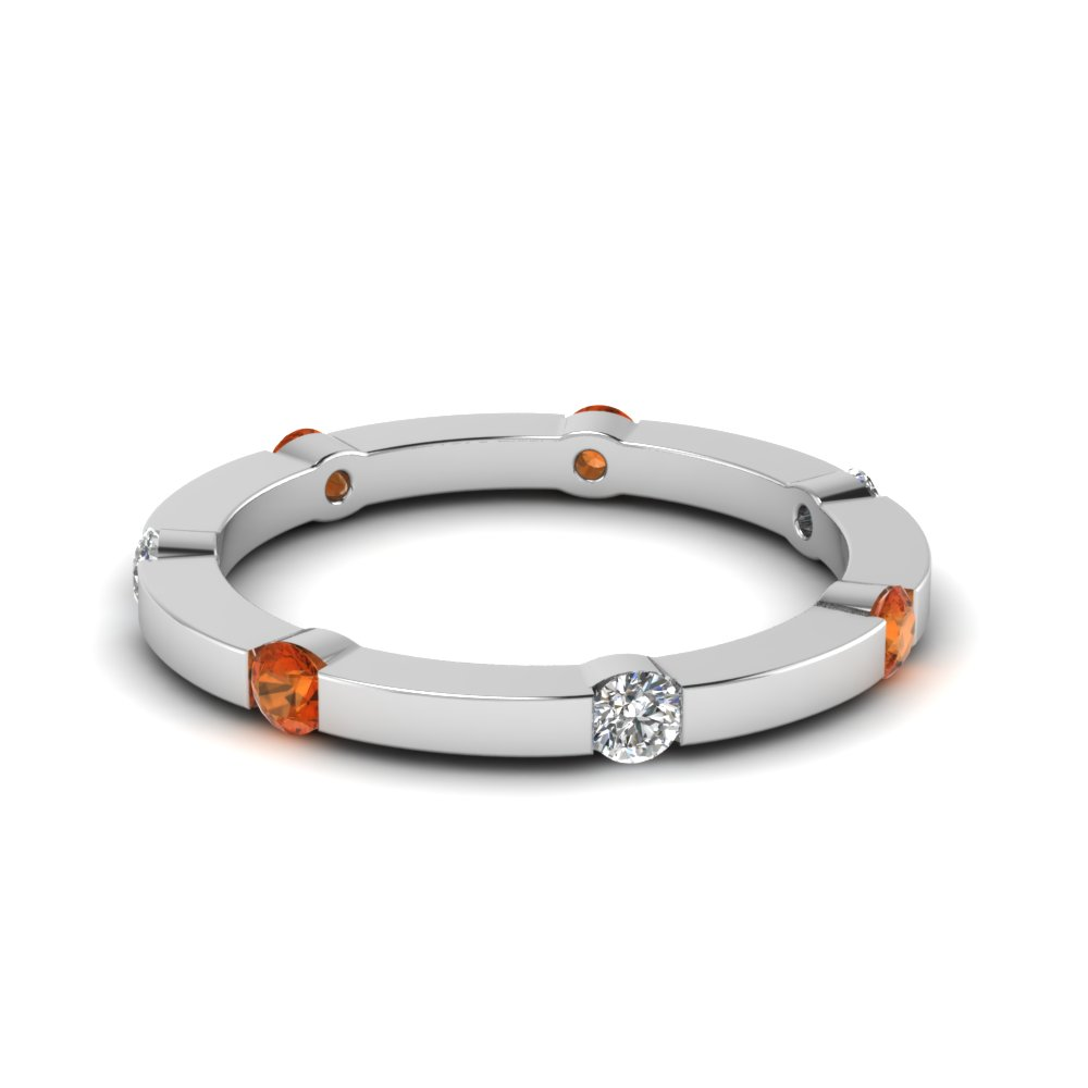 series band stackable with thin rings jewelry sapphire elegant gold nl wg diamond eternity orange bands wedding white in
