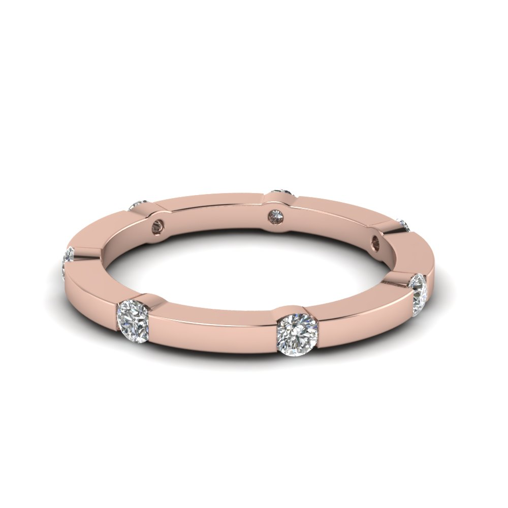 band and p adornia vermeil bands v crystal single swarovski eternity rose gold width