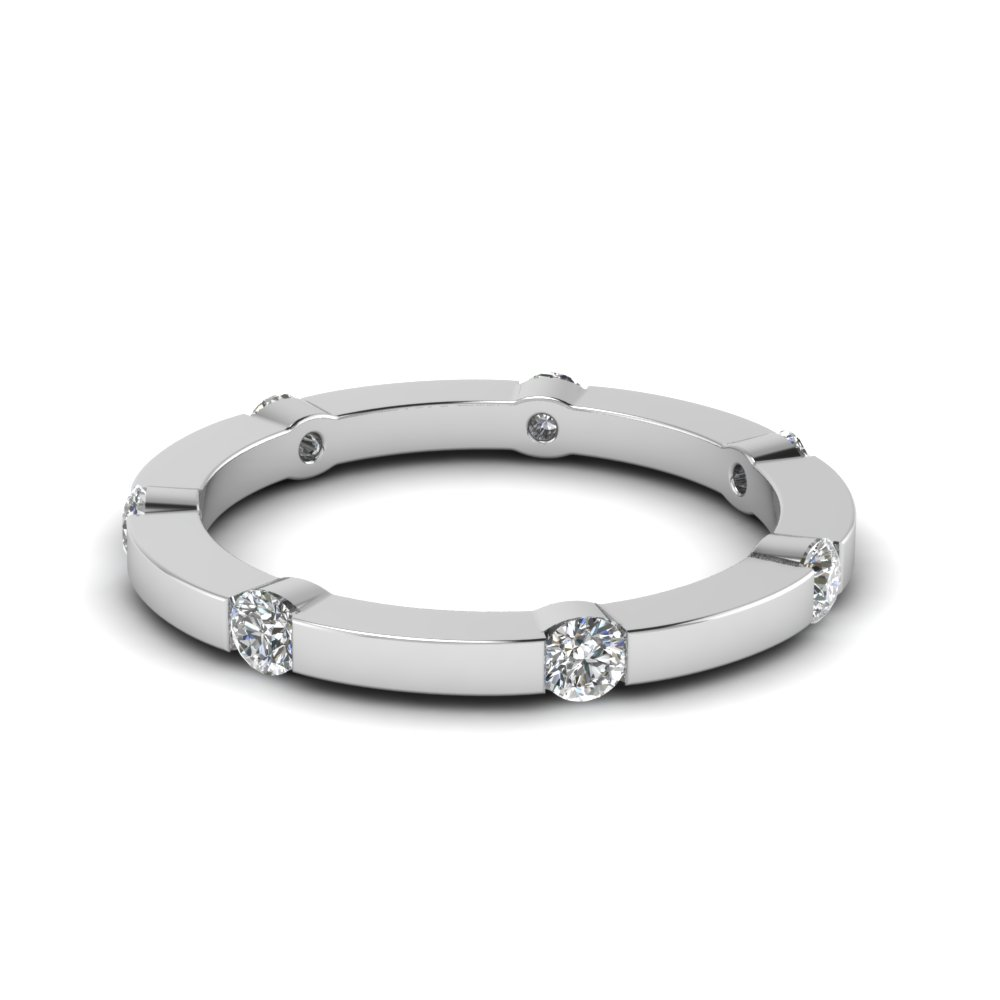 Half Bezel Diamond Eternity Band
