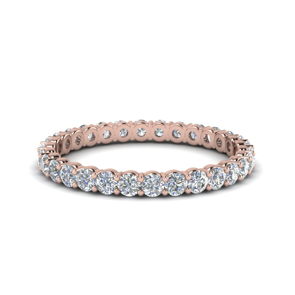 Shared Prong Round Eternity Band