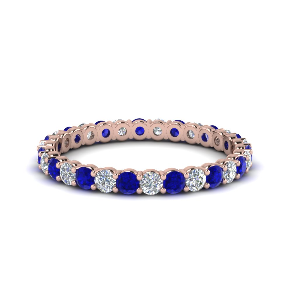 Shared Prong 3/4 Karat Sapphire Eternity Band