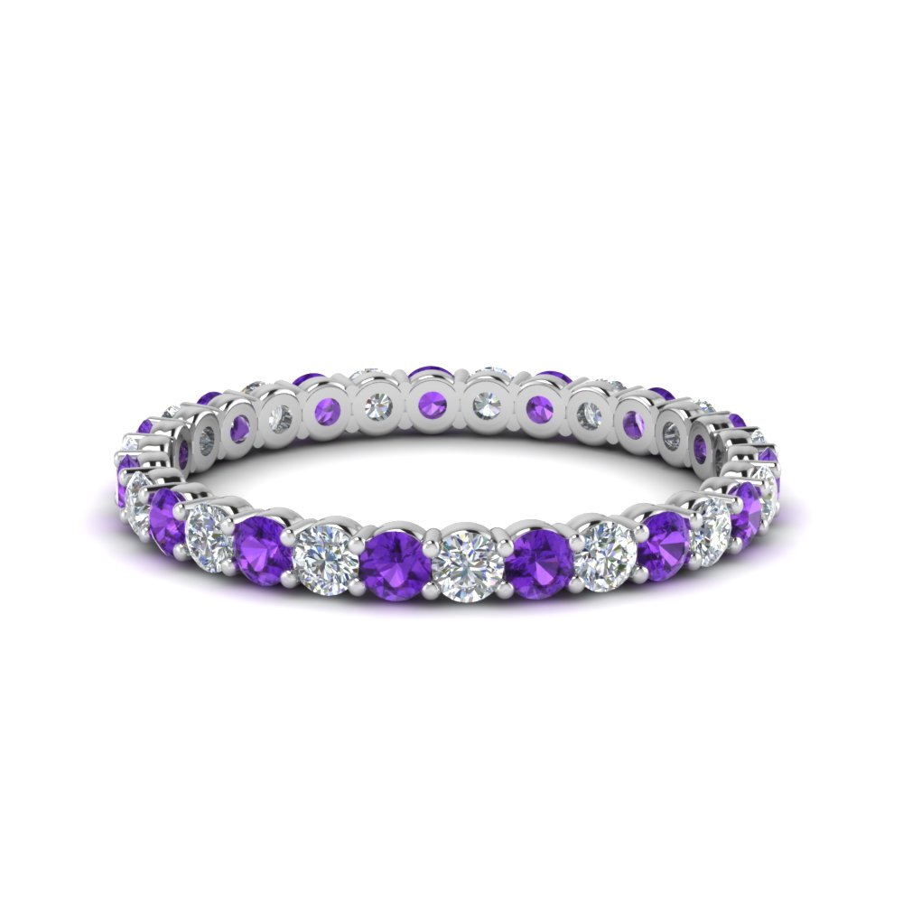 0.75 Ctw. Round Eternity Band With Purple Topaz