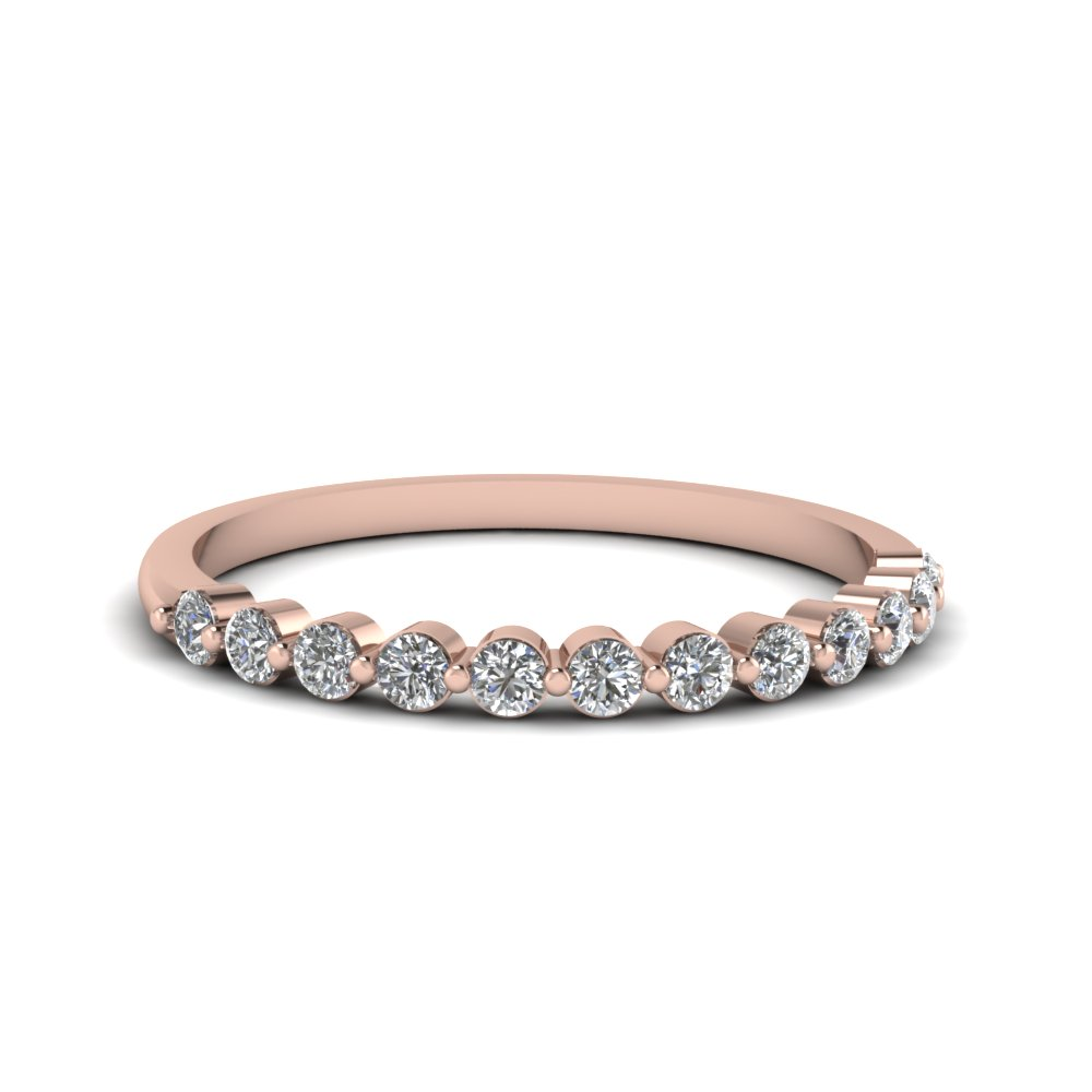 shared prong diamond band for women in FDENS3023B NL RG
