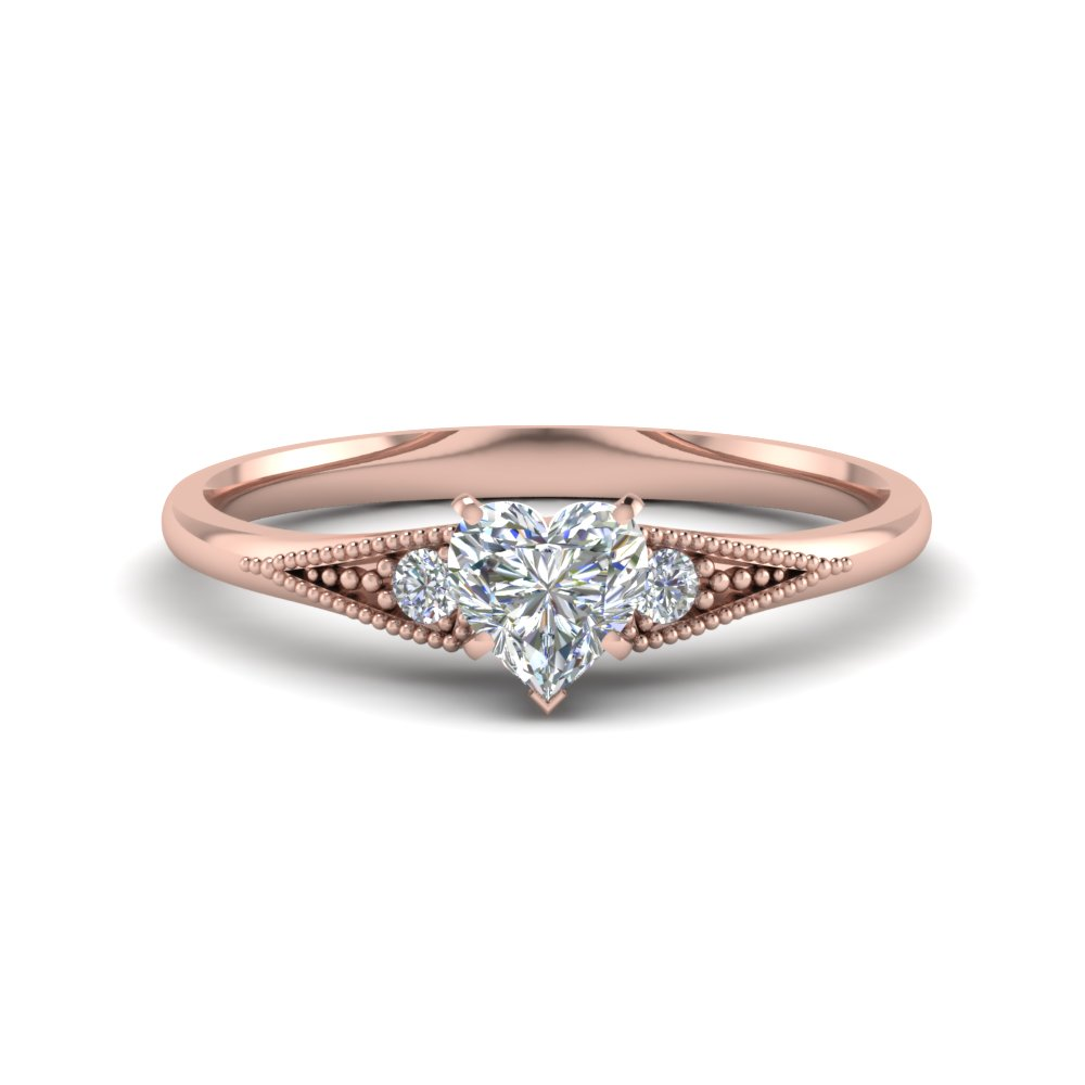 Simple 0.50 Carat Diamond 3 Stone Ring