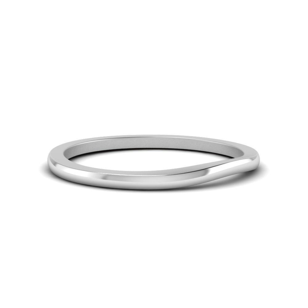 simple contour wedding band in FD122950BANGLE1 NL WG