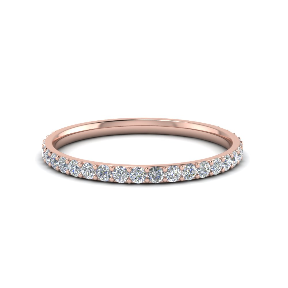 gold and petite oro simple rose white vrai p solid band web pave diamond products bands wedding