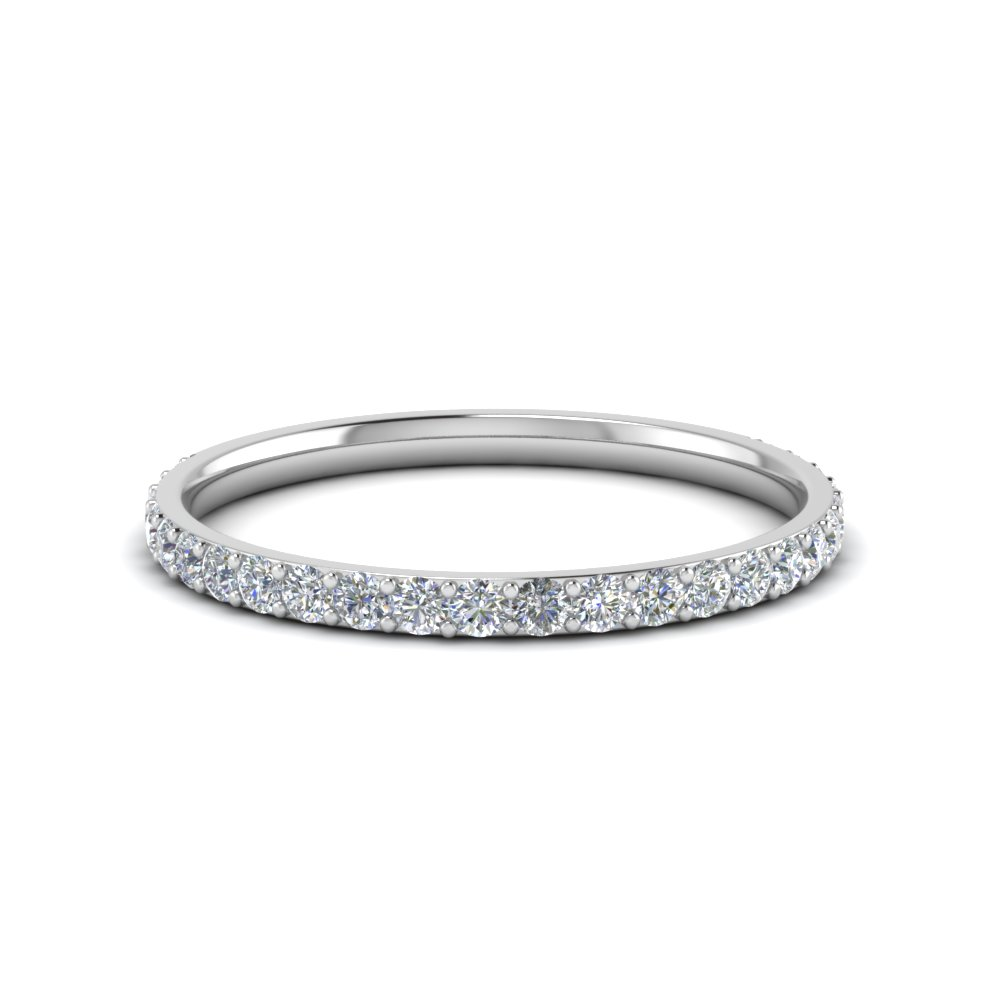 elegant single shine ring in simple band diamond an wedding diamonds eternity couples bands loving set half of row