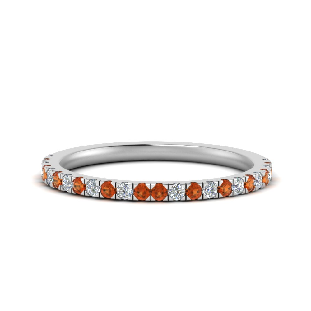 simple matching diamond wedding band with orange sapphire in FD9128B1GSAOR NL WG.jpg