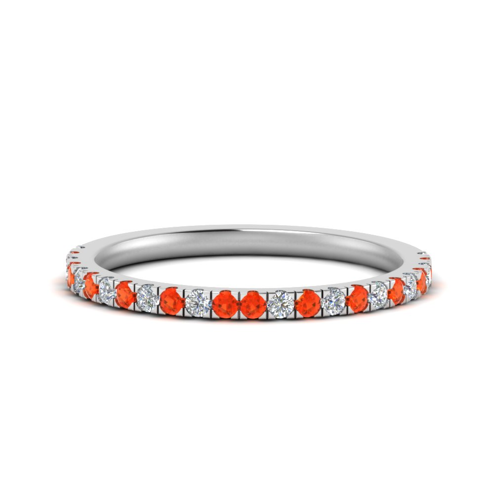 simple matching diamond wedding band with orange topaz in FD9128B1GPOTO NL WG.jpg