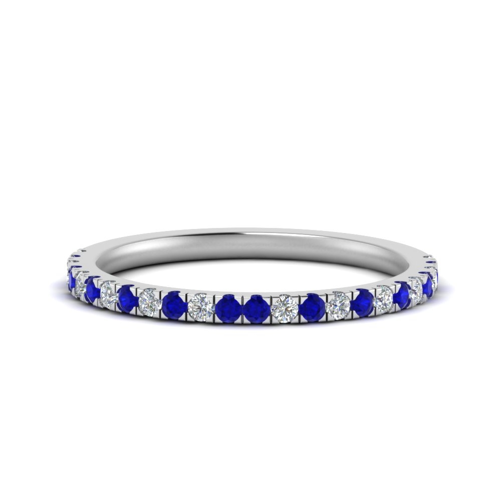 simple matching diamond wedding band with sapphire in FD9128B1GSABL NL WG.jpg