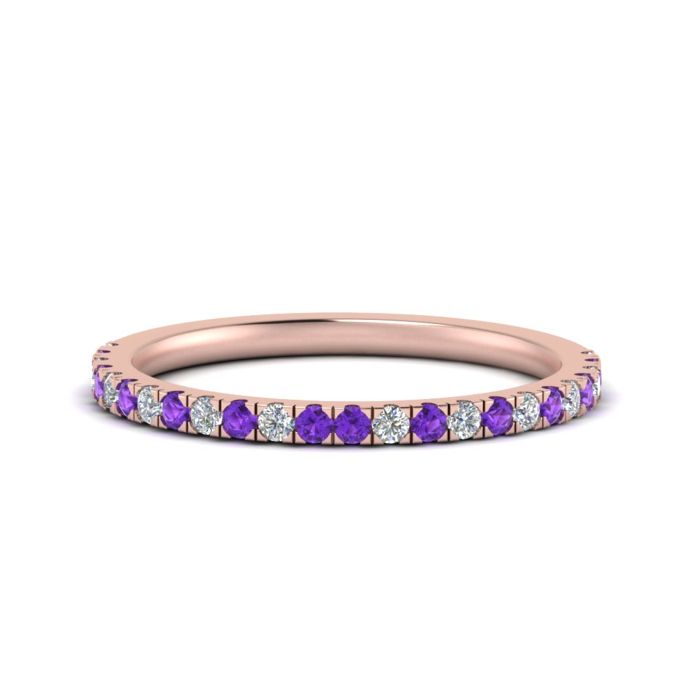 simple matching diamond wedding band with violet topaz in FD9128B1GVITO NL RG.jpg