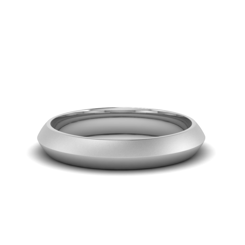 Simple Plain Wedding Band 4mm