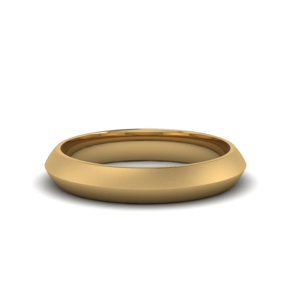 Simple Plain Yellow Gold Band