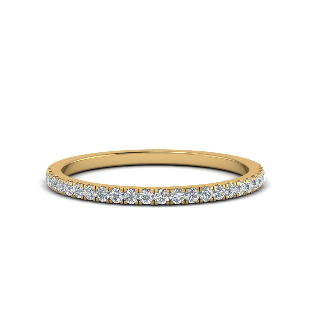 Simple Thin Diamond Wedding Band