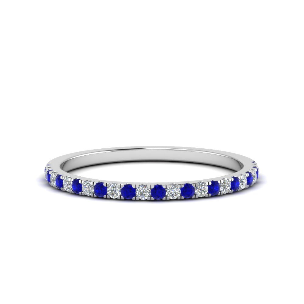 Simple Thin Sapphire Wedding Band