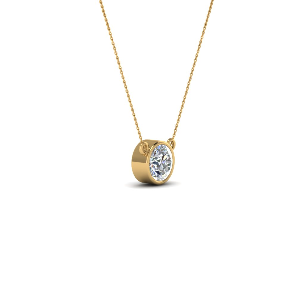 gold set pendant white product diamond necklace bezel