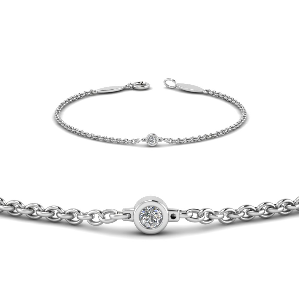 Single Round Diamond Bracelet