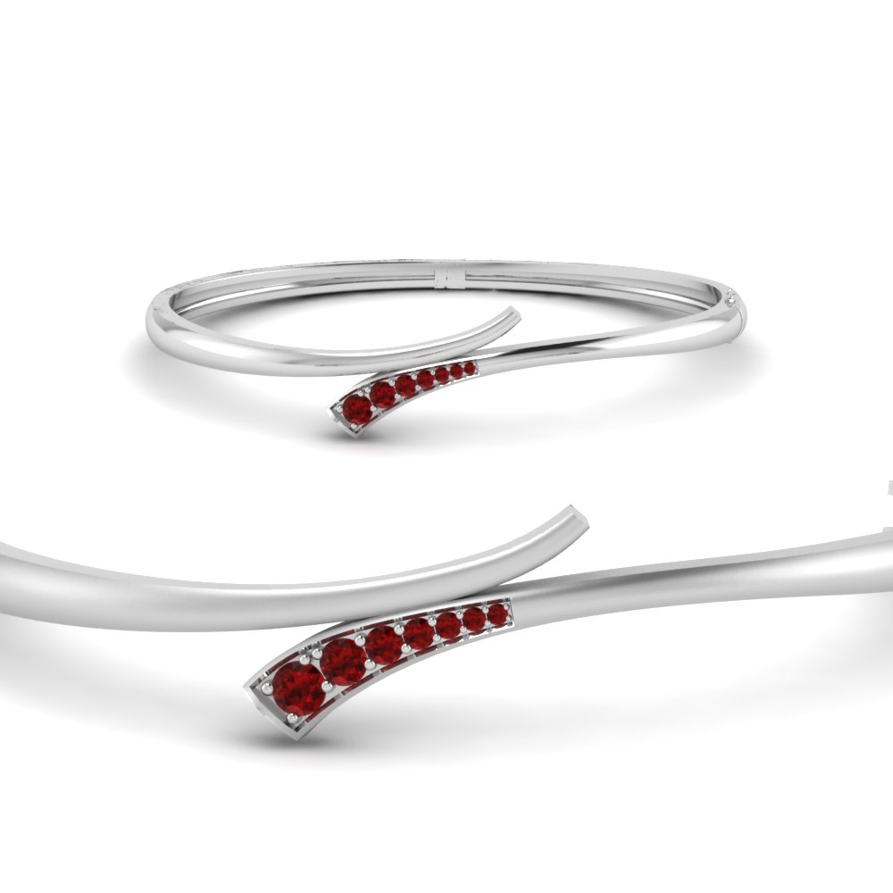 Swirl Ruby Bracelet Bangle