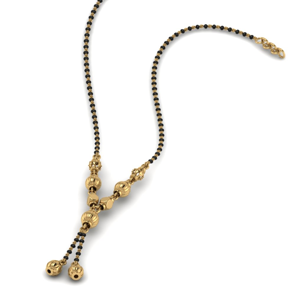 Short Gold Mangalsutra Necklace