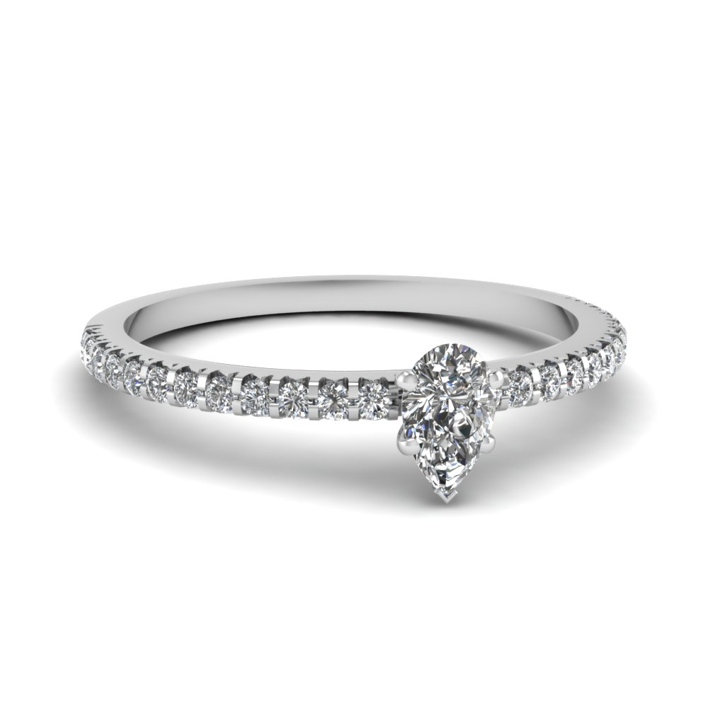 Small Pear Diamond Ring
