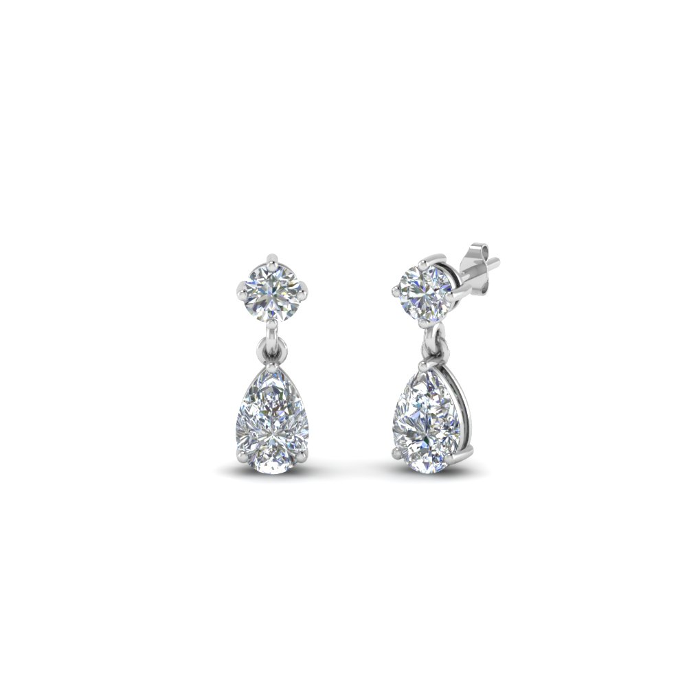 Small Teardrop Kids Diamond Earring In Fdear8386 0 20ct