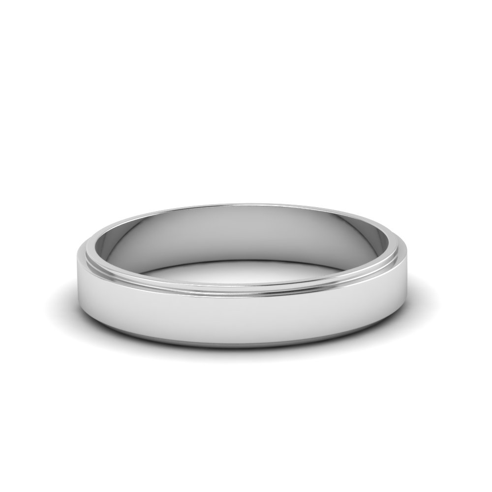 Small Wedding Band For Him In 14K White Gold FDFE74MM NL WG