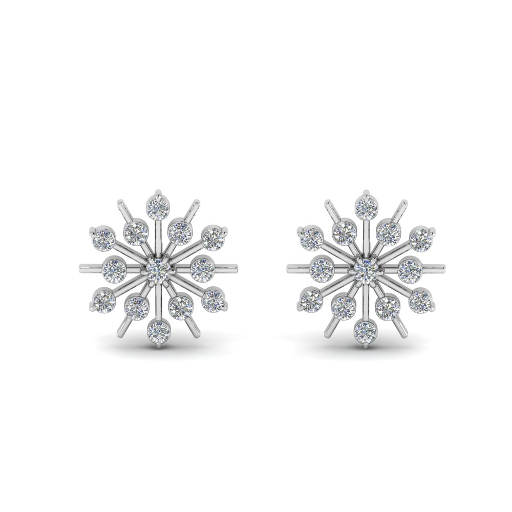 Beautiful Snowflake Stud Earring
