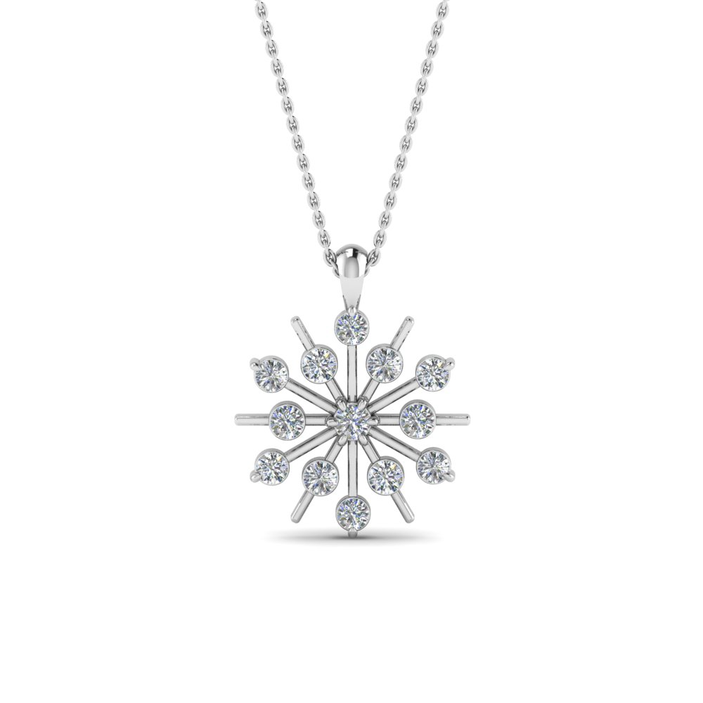 Snowflake Diamond Necklace Gifts