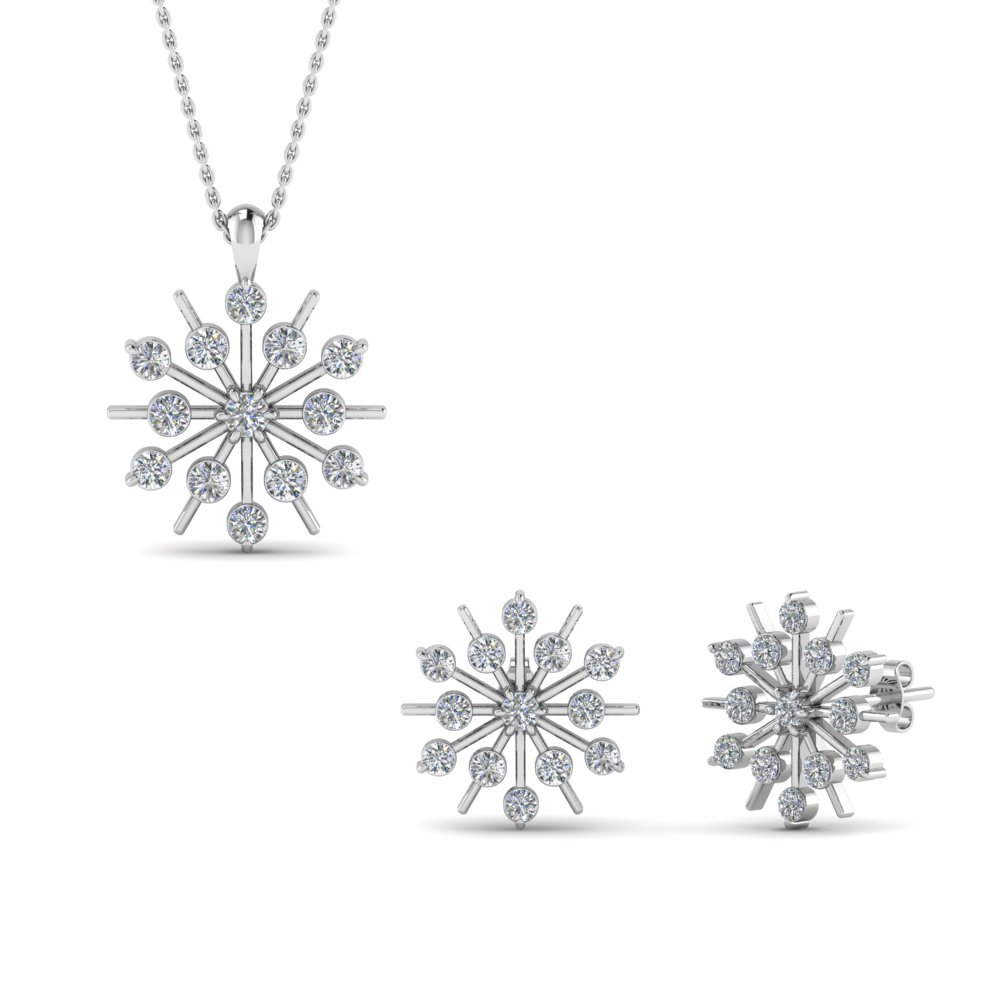 Snowflake Earring And Pendant Set