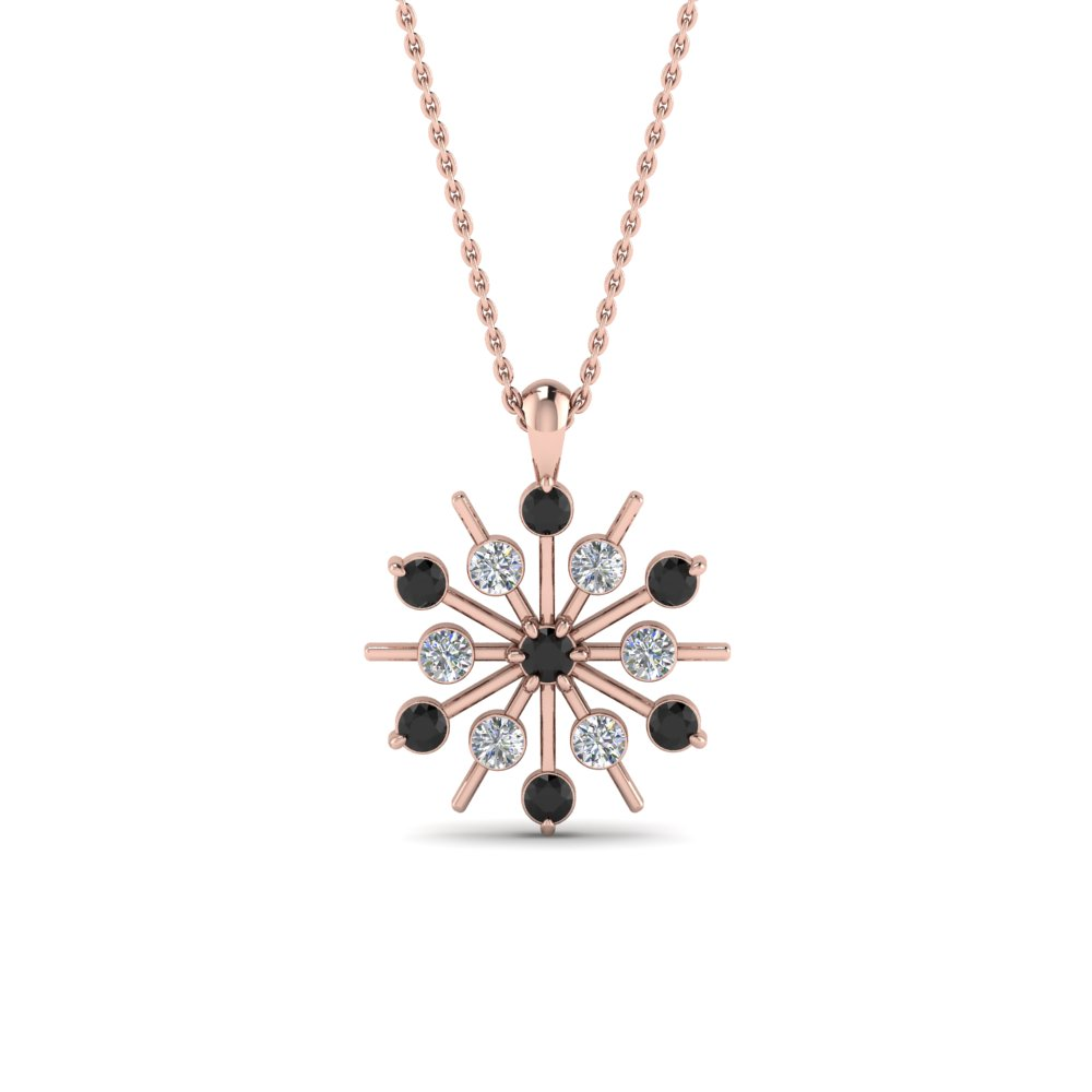snowflake-necklace-gifts-with-black-diamond-in-FDPD8476GBLACKANGLE1-NL-RG