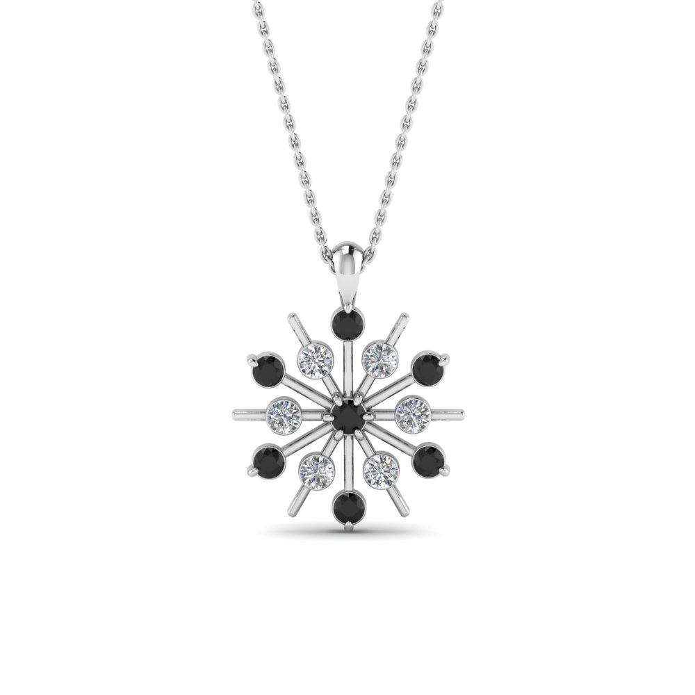 snowflake-necklace-gifts-with-black-diamond-in-FDPD8476GBLACKANGLE1-NL-WG