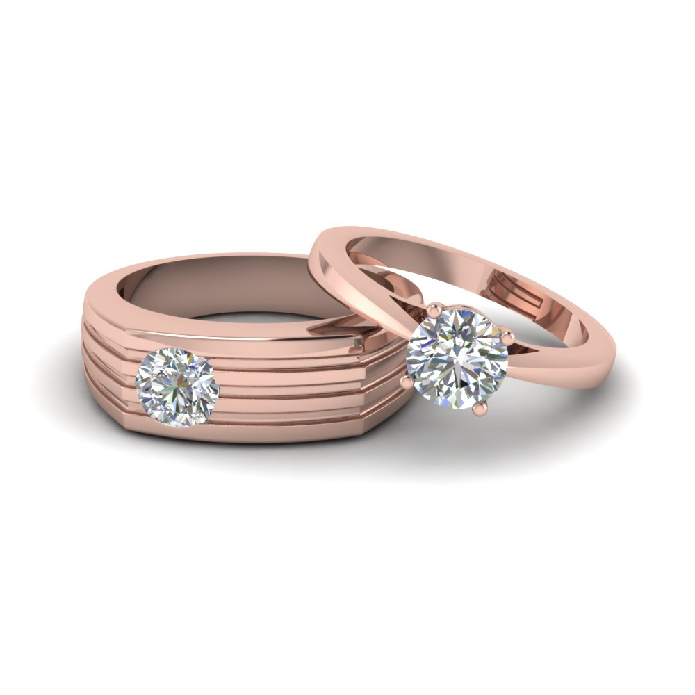 Solitaire Rings For Him And Her