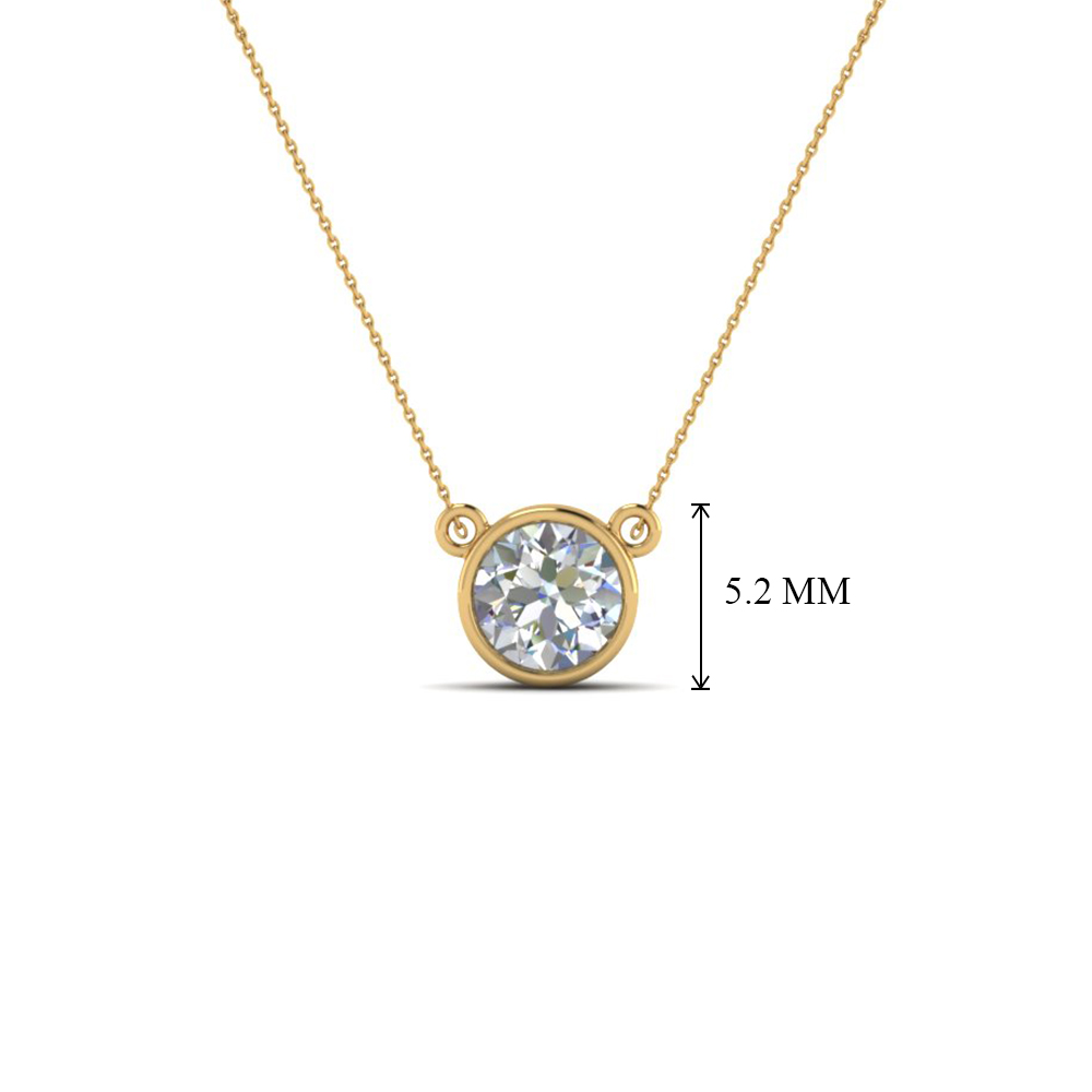 Solitaire diamond pendant for women in 18k yellow gold fascinating solitaire diamond pendant for women in fdpd81 nl yg add to cart aloadofball Image collections