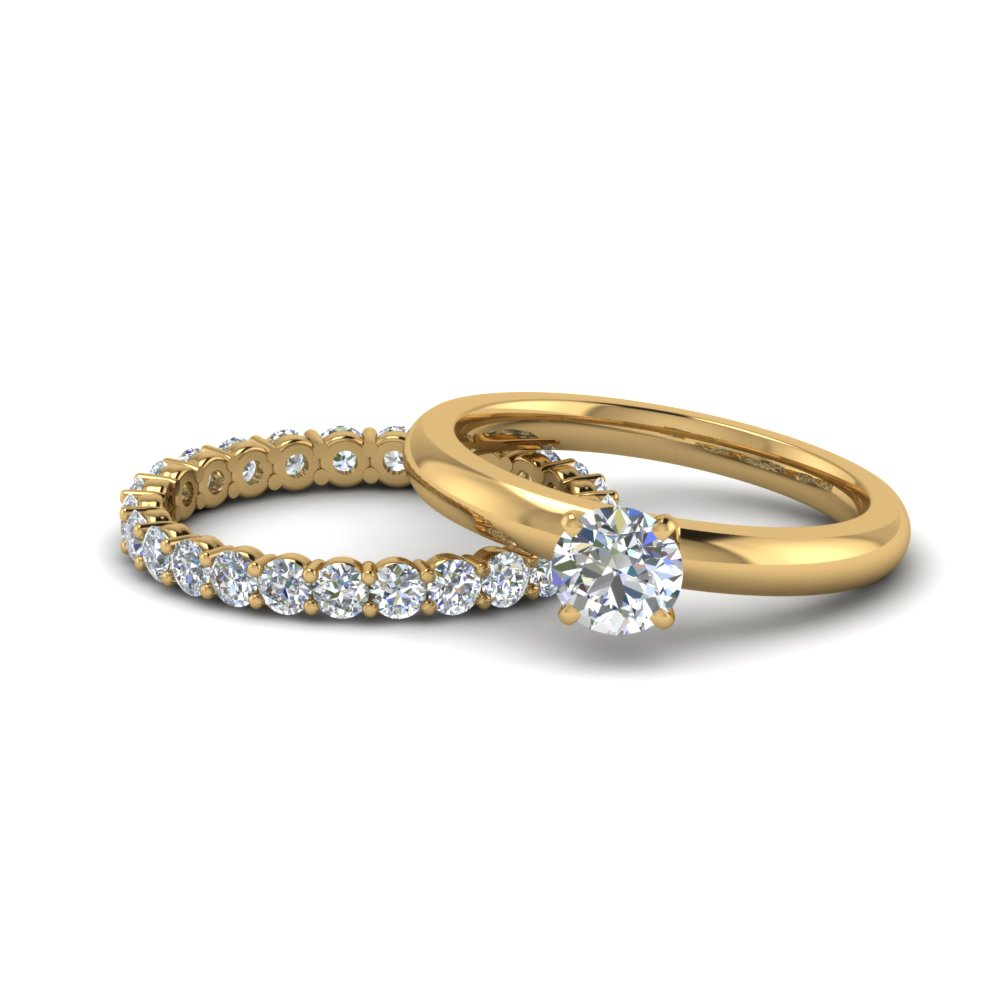 Round Diamond Eternity Ring Set