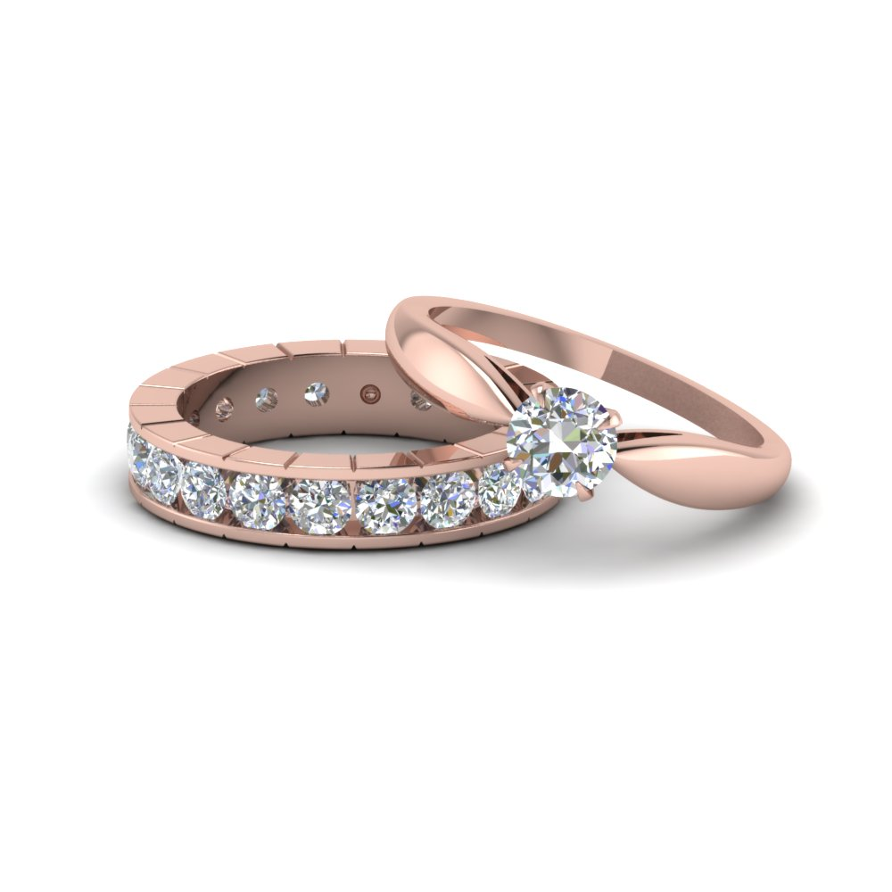 Solitaire With Eternity Wedding Set
