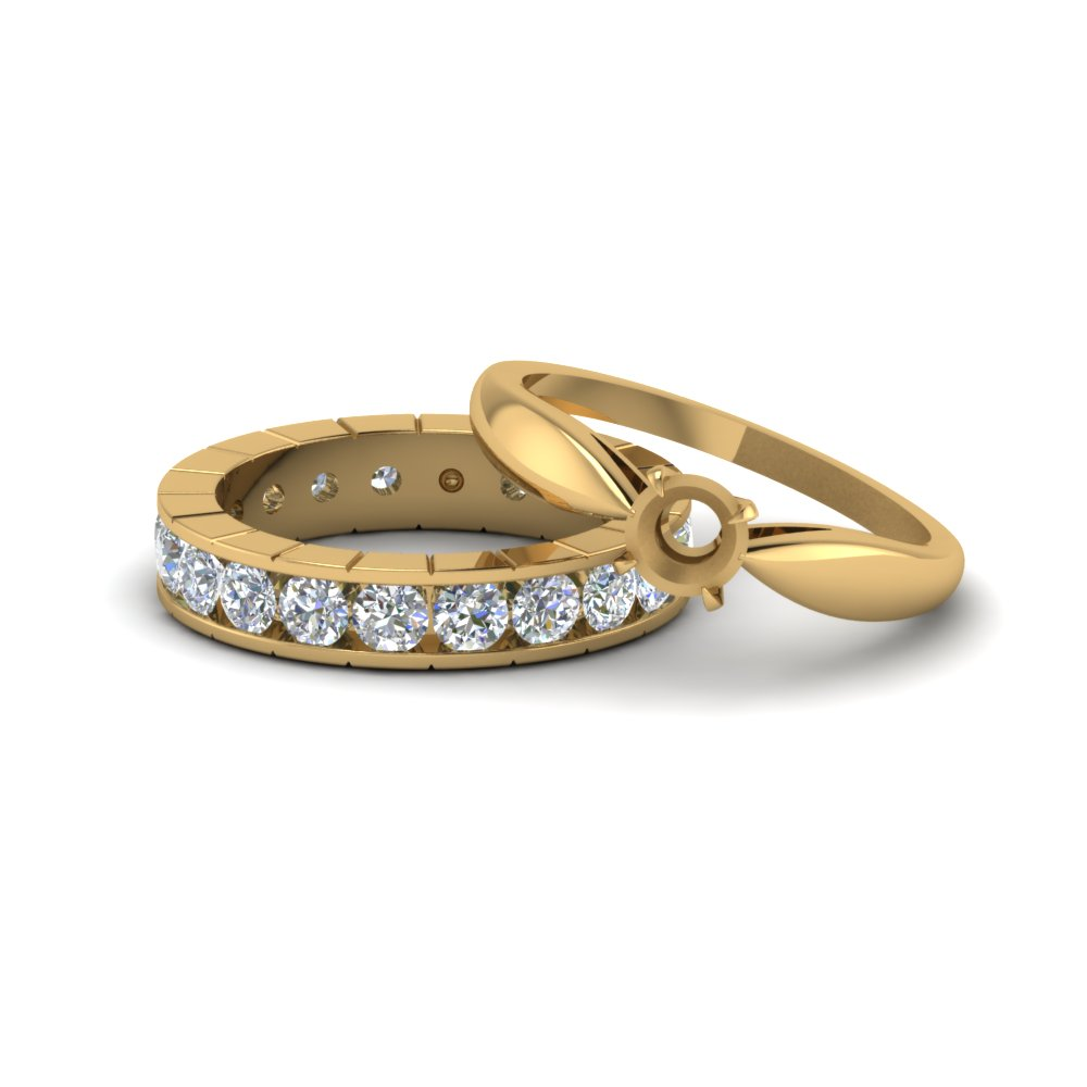 Solitaire With Eternity Semi Mount Diamond Wedding Ring