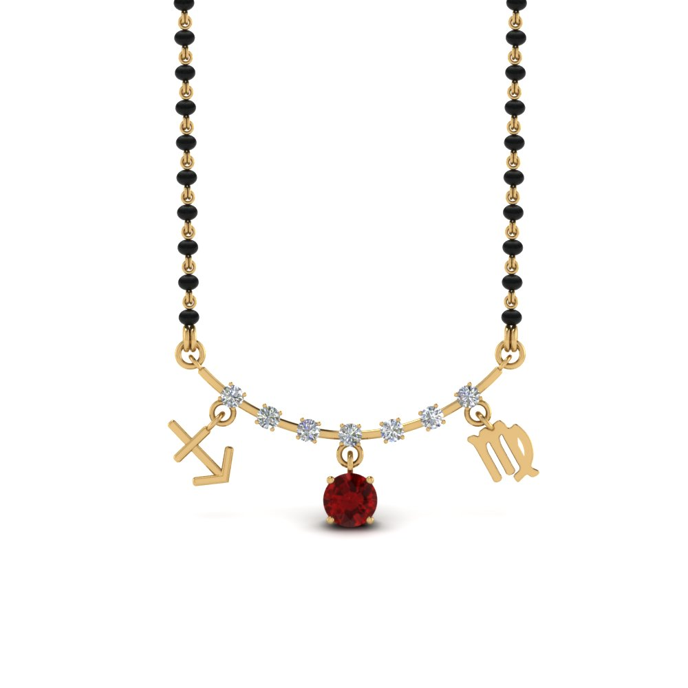 Sonam Ruby Mangalsutra Necklace