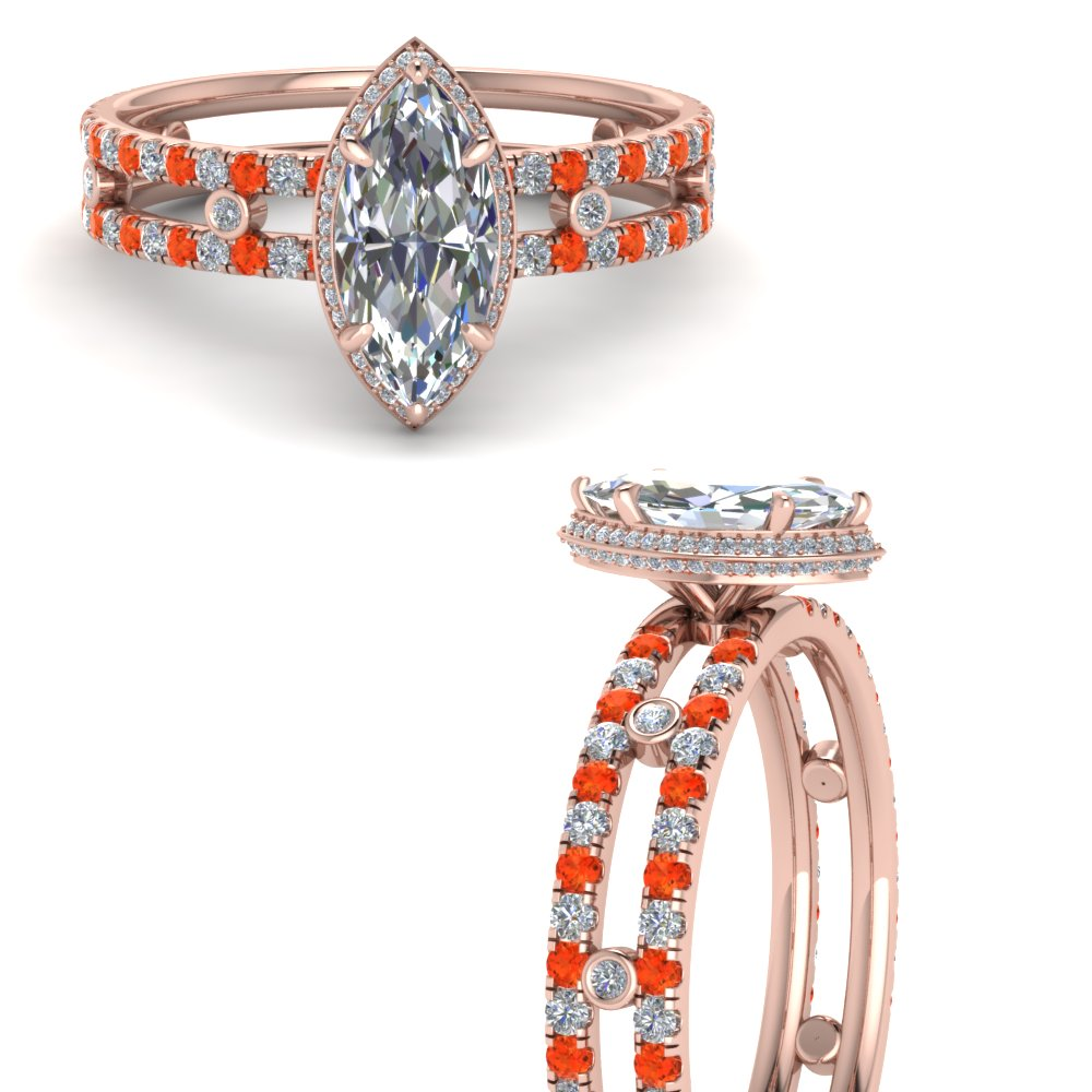 split-band-hidden-marquise-halo-diamond-engagement-ring-with-orange-topaz-in-FD9171MQRGPOTOANGLE3-NL-RG