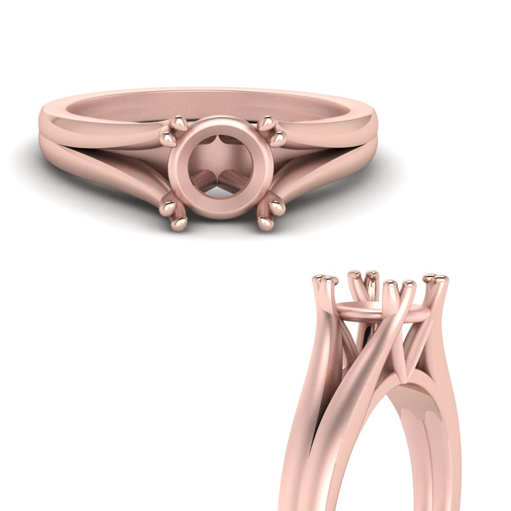 Split Double Prong Ring Setting