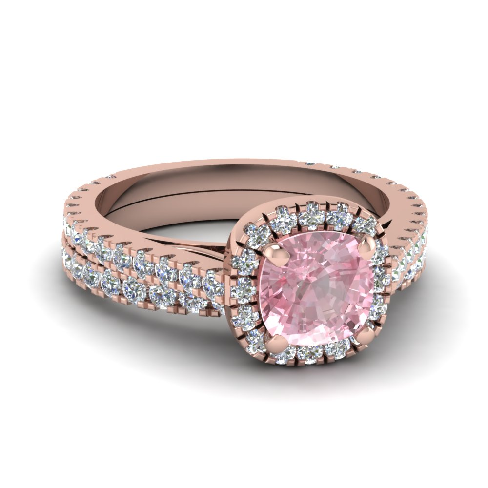 Colored Engagement Rings With Pink Morganite In 14k Rose Gold