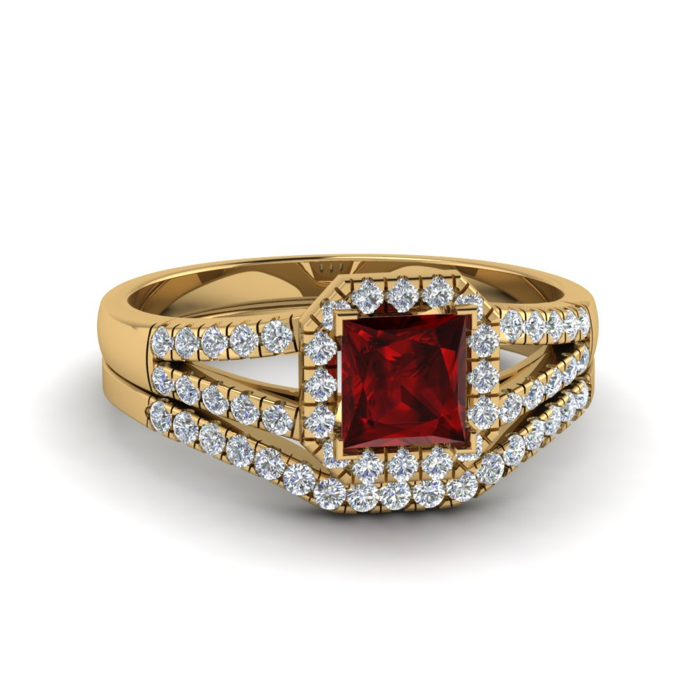 split-shank-square-ruby-halo-wedding-set-in-FDENS3157PRGRD-NL-YG