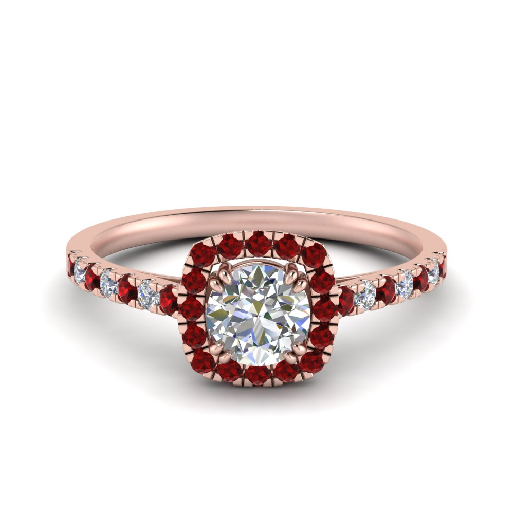 square halo french pave diamond engagement ring with ruby in FD9155RORGRUDR NL RG.jpg