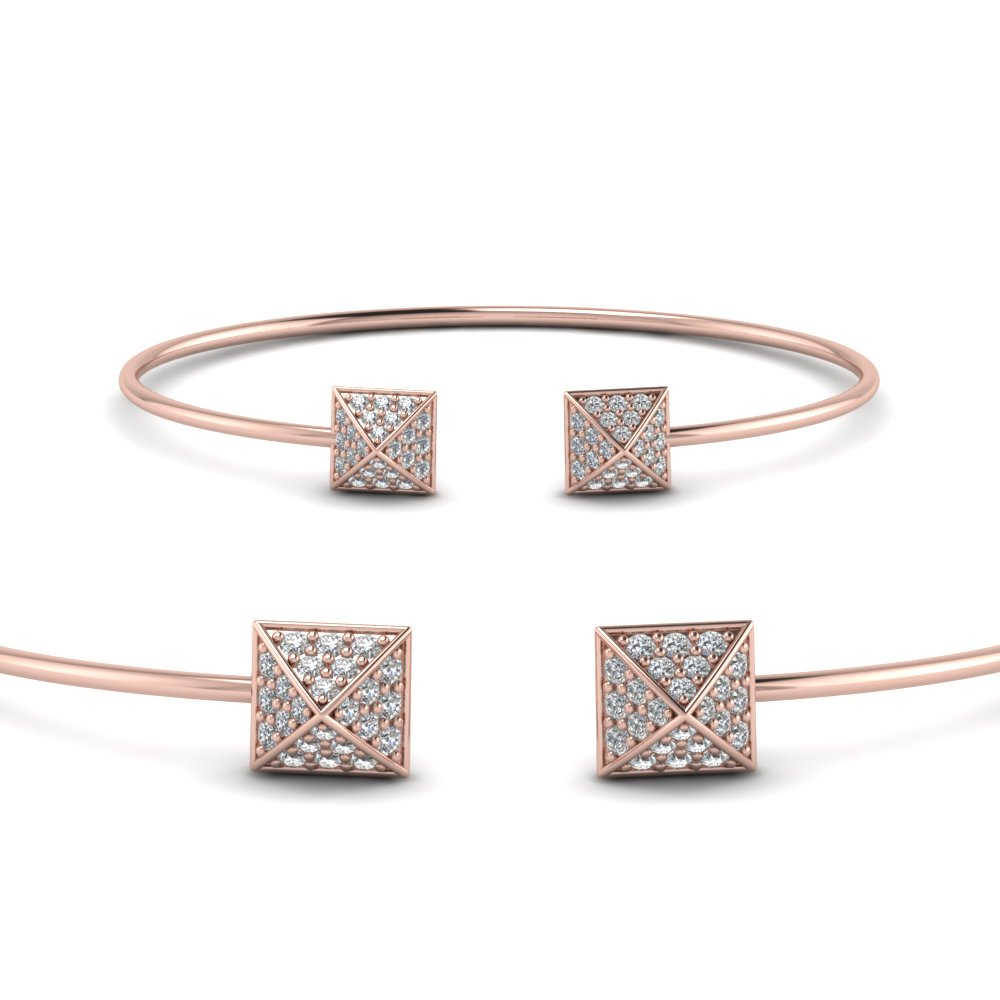 Square Pave Diamond Bracelet