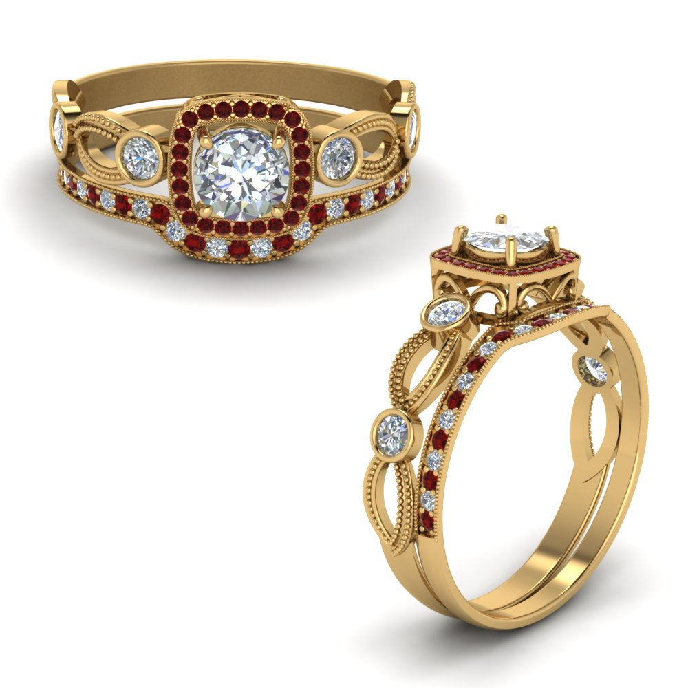 square-vintage-diamond-bridal-set-with-ruby-in-FD8590ROGRUDRANGLE1-NL-YG