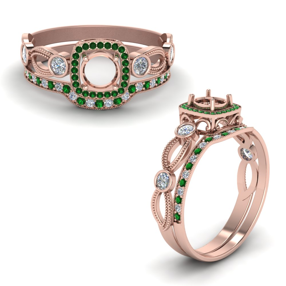 Emerald Wedding Ring Settings