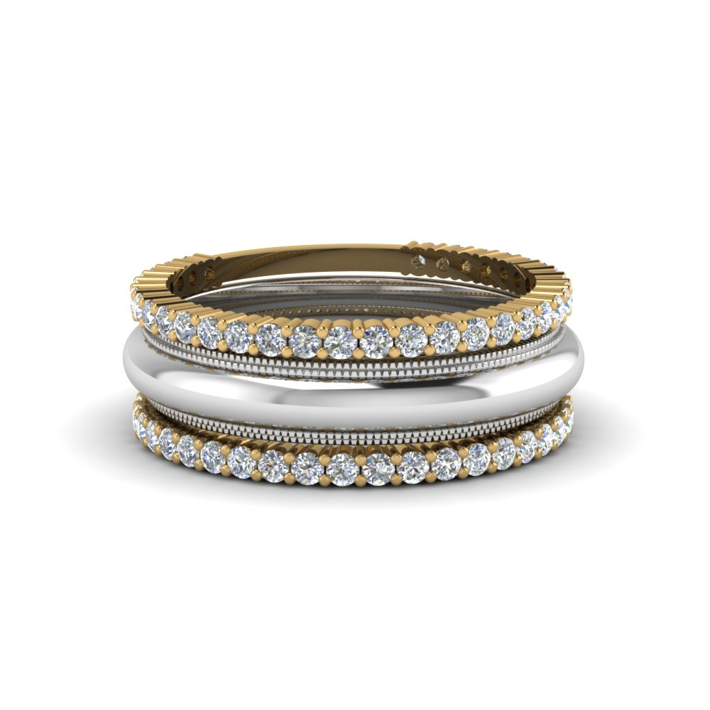 Stackable 2 Tone Anniversary Band
