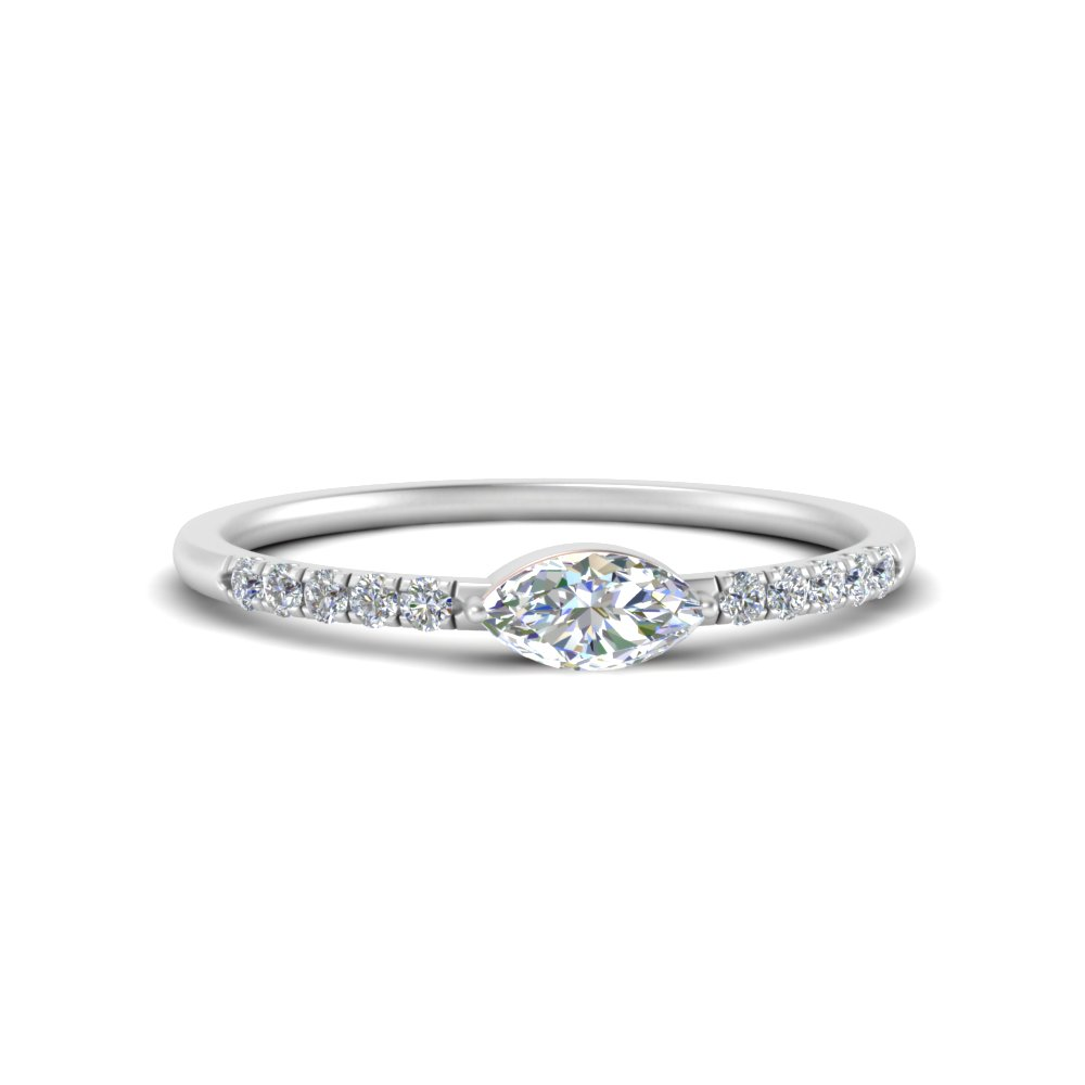 stackable-half-carat-diamond-marquise-cut-engagement-ring-in-FD122040MQR-NL-WG