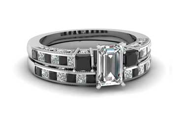 Emerald Cut Diamond Engagement Rings