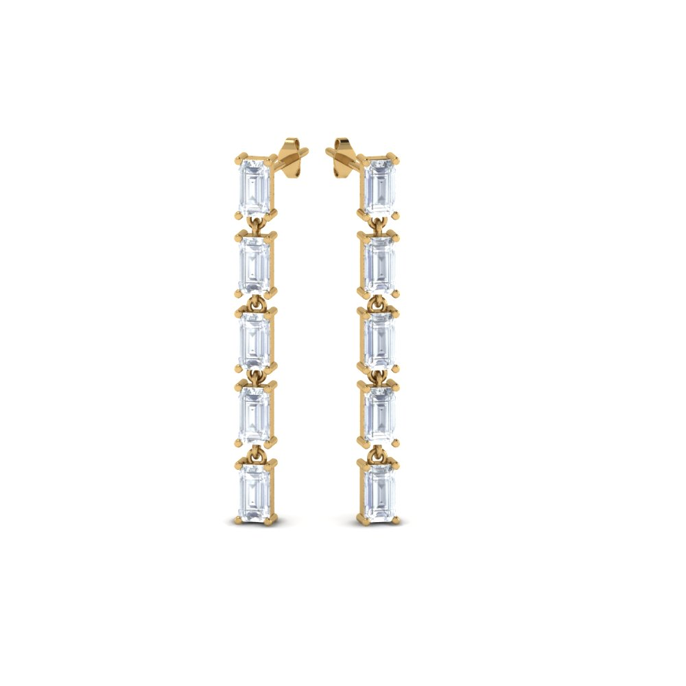 ellie baguette earrings gold jay diamond collections drop products drops